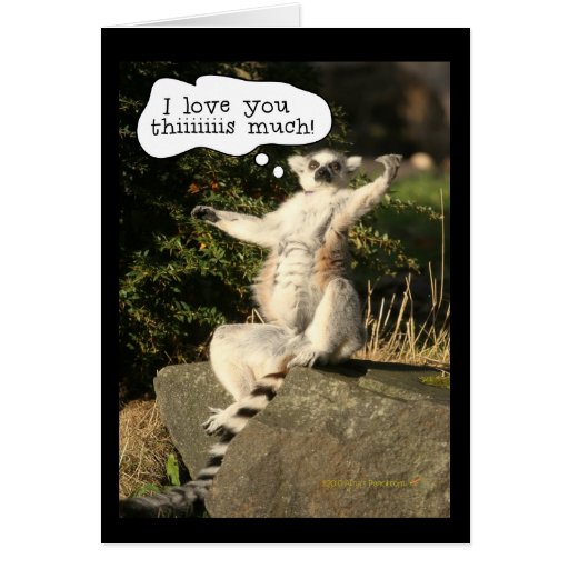 Lemur Love You This Much Funny  Fathers Day Greeting Card