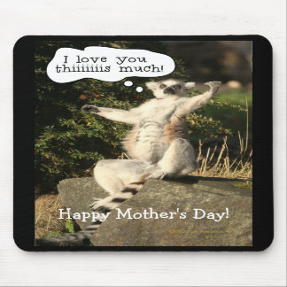 Lemur Love You This Much Mother s Day Mousepad