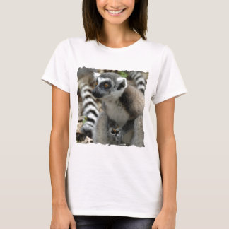 Lemur Monkey Ladies Fitted T-Shirt