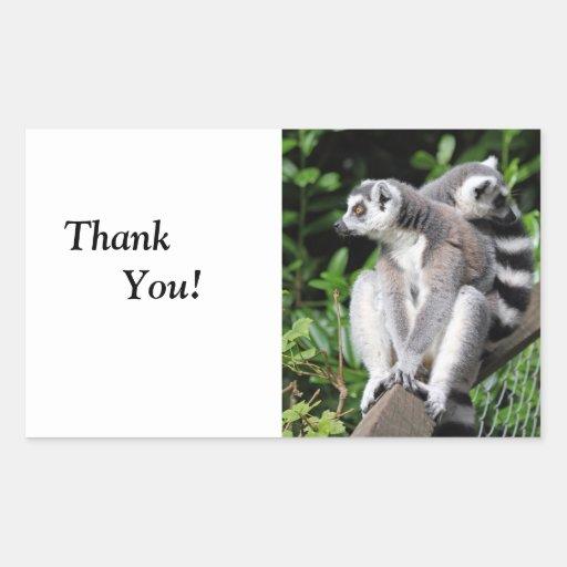 Lemur ring-tailed cute happy birthday stickers