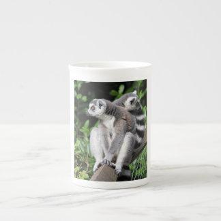 Lemur ring-tailed cute photo bone china mug, gift bone china mug