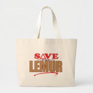 Lemur Save Large Tote Bag