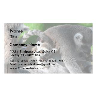 Lemurs Eating Business Card