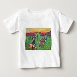 Lemurs in the grass baby T-Shirt