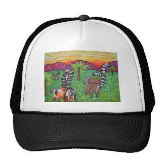 Lemurs in the grass cap