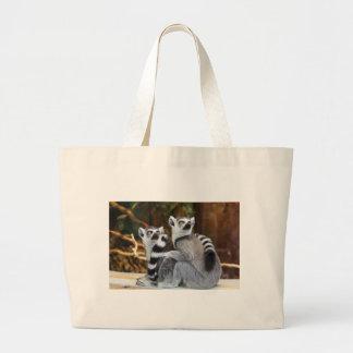Lemurs Large Tote Bag