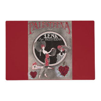 Lena from Palesteena laminated placemat