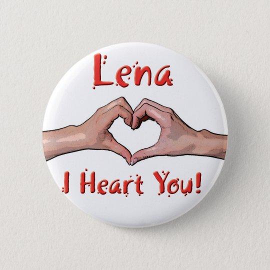 Lena - I Heart You! 6 Cm Round