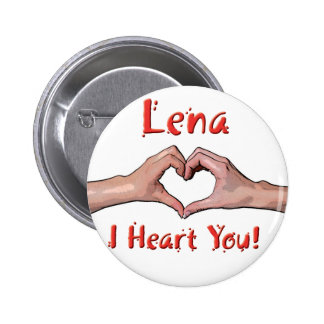 Lena - I Heart You! 6 Cm Round Badge