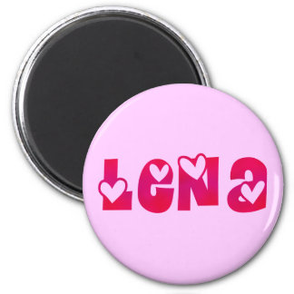 Lena in Hearts 6 Cm Round Magnet