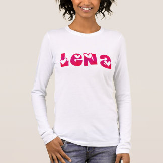 Lena in Hearts Long Sleeve T-Shirt