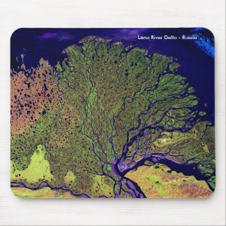 Lena River Delta from Space - Russia Mouse Pad