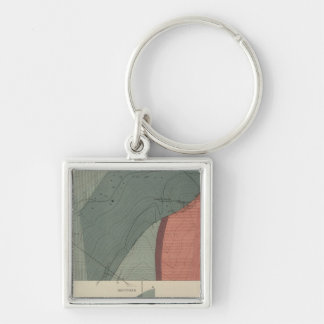Lenado Mining District Sheet Silver-Colored Square Key Ring