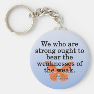 Lend a Helping Hand Romans 15-1 Key Ring