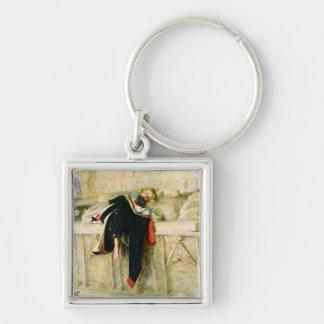 L'Enfant du Regiment (The Random Shot) 1855 (oil o Silver-Colored Square Key Ring