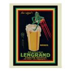 Lengrand Brasserie Vintage French Poster 16 x 20