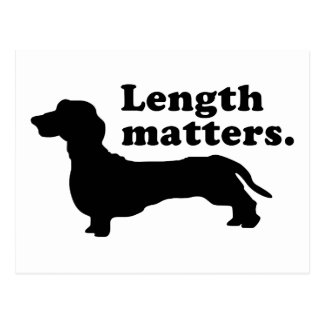 Length Matters Dachshund Post Card
