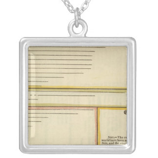 Lengths of rivers silver plated necklace