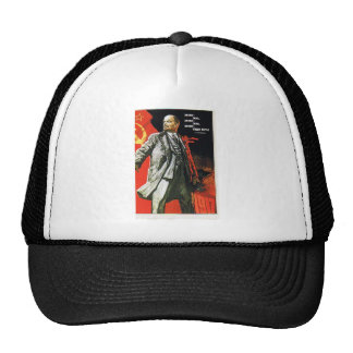 lenin father of soviet union trucker hat