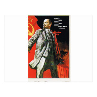 lenin father of soviet union postcard