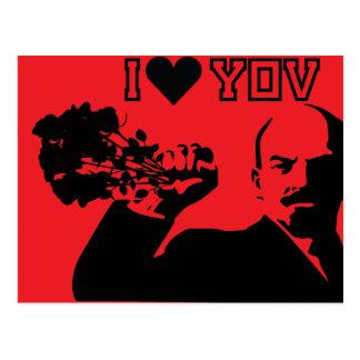 lenin - i love you postcard