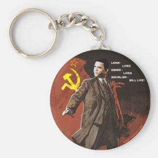 Lenin Lived Obama Lives Basic Round Button Key Ring