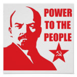 """Lenin """"Power to the People"""" Poster"""