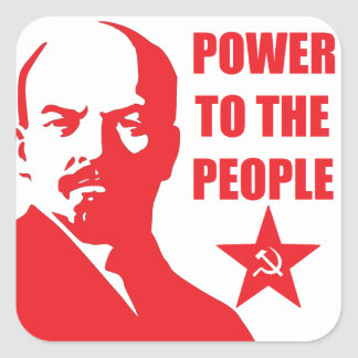 "Lenin ""Power to the People"" Stickers"