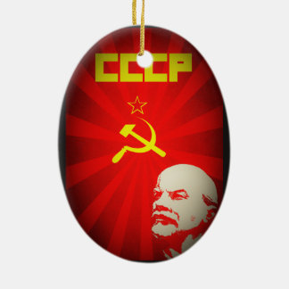 lenin russia soviet communist propaganda vintage f christmas ornament