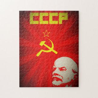 lenin russia soviet communist propaganda vintage f jigsaw puzzle