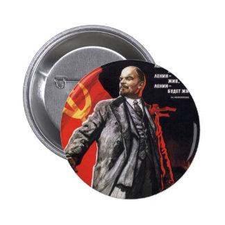 Lenin - Russian Communist 6 Cm Round Badge