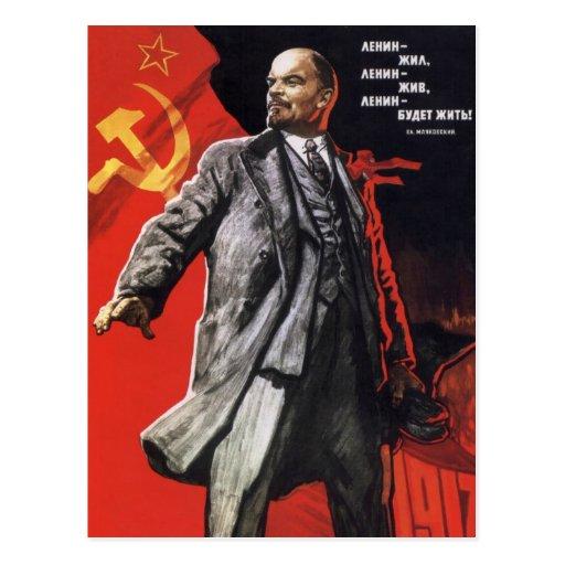 Lenin - Russian Communist Post Card