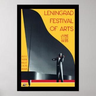 Leningrad Festival of the Arts Poster