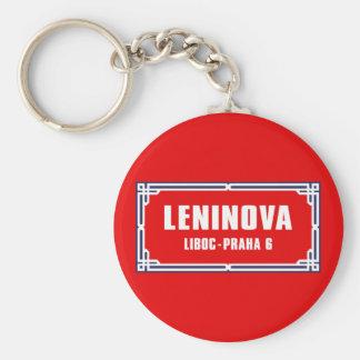 Leninova, Prague, Czech Street Sign Key Chain