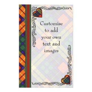 Lennie clan Plaid Scottish kilt tartan 14 Cm X 21.5 Cm Flyer