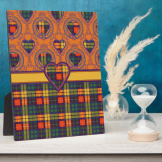 Lennie clan Plaid Scottish kilt tartan Plaque