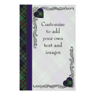 Lennox clan Plaid Scottish tartan 14 Cm X 21.5 Cm Flyer