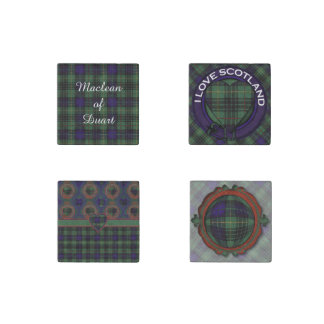 Lennox clan Plaid Scottish tartan Stone Magnet