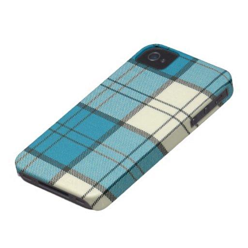 Lennox Dress Turquoise Tartan iPhone 4/4S Case-Mat iPhone 4 Case