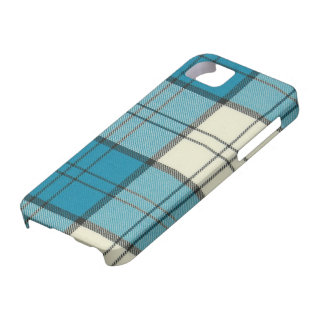 Lennox Dress Turquoise Tartan iPhone 5 Case-Mat iPhone 5 Covers