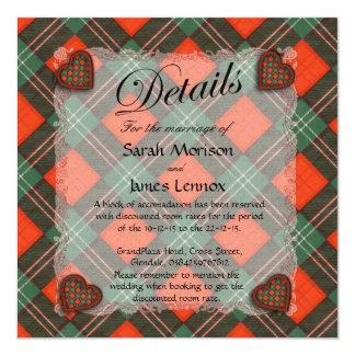 "lennox.png 5.25"" square invitation card"