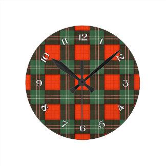 Lennox Scottish Tartan Round Clock