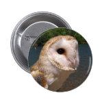 Lenny The Barn Owl Button