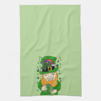 Lenny The Leprechaun Kitchen Towel