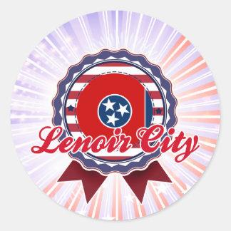 Lenoir City, TN Round Stickers