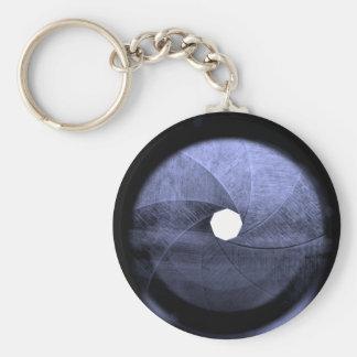 lens aperture blades key chain