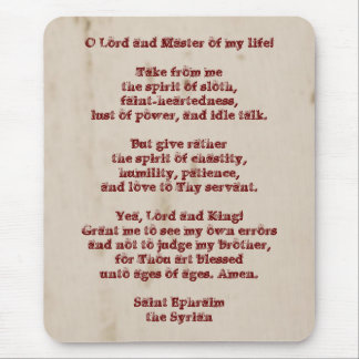 Lenten Prayer Mouse Pad