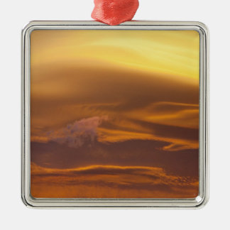 Lenticular cloud at sunset christmas ornament