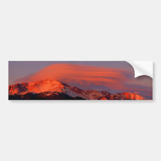 Lenticular Cloud over Pikes Peak Bumper Sticker