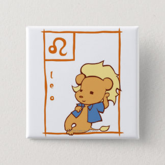 Leo 15 Cm Square Badge
